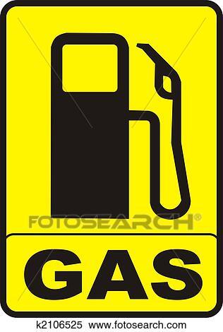 Clip Art Gas Pump Clip Art stock illustration of gas pump caution sign k2106525 search fotosearch clipart drawings decorative