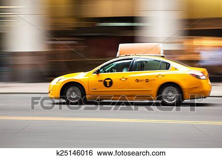 banque d 39 images new york taxi jaune taxi manhattan. Black Bedroom Furniture Sets. Home Design Ideas