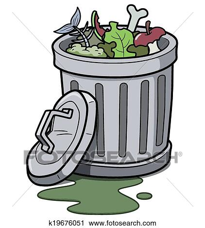 clipart of trash can k19676051 search clip art illustration rh fotosearch com trashcan clipart trash can clipart black and white