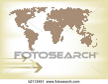 剪贴画 - 旧世界, 地图