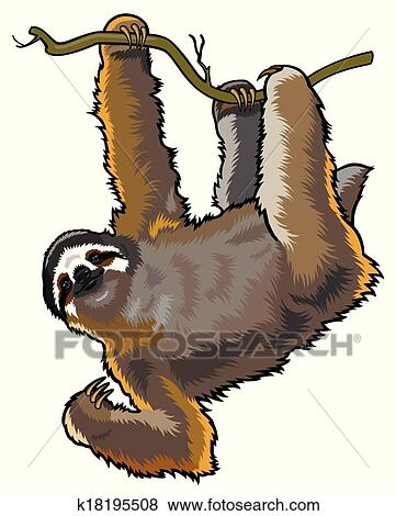 Clip Art Sloth Clipart sloth clipart royalty free 362 clip art vector eps sloth