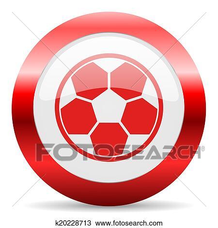 手绘图 - 足球, 有光泽, 网, 图标图片