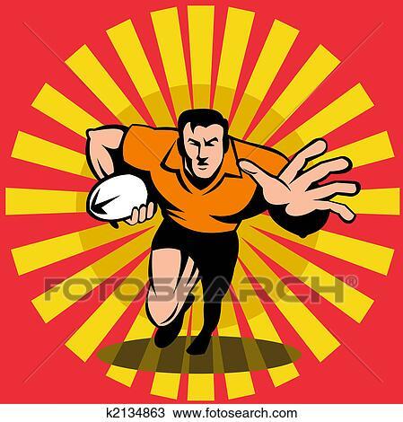 Dessin joueur rugby fend ferm devant k2134863 recherchez des cliparts des illustrations - Dessin de joueur de rugby ...