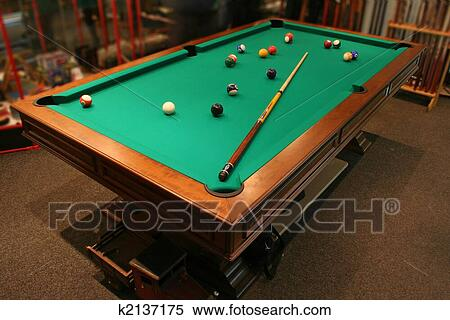 Stock Image Of Pool Table K2137175