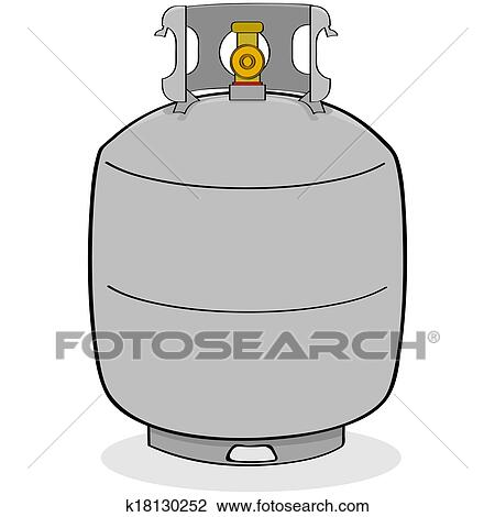 Clipart of Propane tank k18130252 - Search Clip Art, Illustration ...