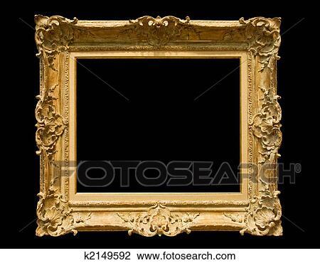 stock foto goldenes klassische bilderrahmen k2149592 suche stockfotografie fotodrucke. Black Bedroom Furniture Sets. Home Design Ideas