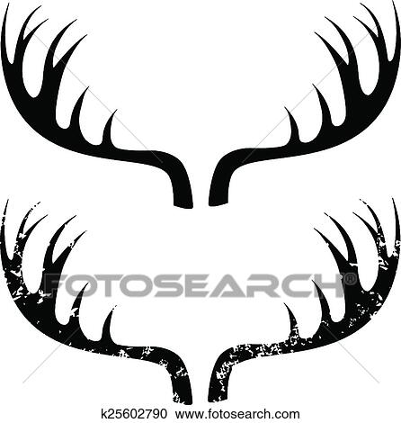 Clipart of Deer horns k25602790 - Search Clip Art, Illustration ...