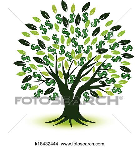 clipart of money tree prosperity symbol logo k18432444