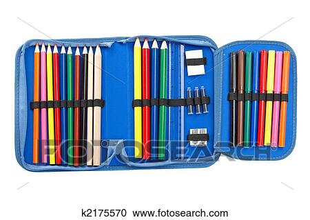 Stock Photography of Blue pencil case k2175570 - Search Stock ...