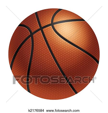 Drawings Of Realistic Basketball K2176584 - Search Clip Art Illustrations Wall Posters And EPS ...