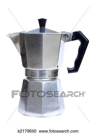 Stock Photography of Italian coffee maker k2179650 - Search Stock Photos, Pictures, Wall Murals ...