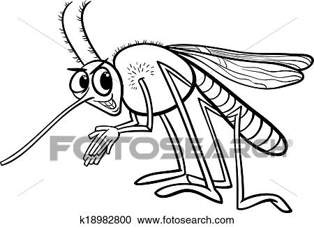 Clipart Of Mosquito Insect Coloring Page K18982800