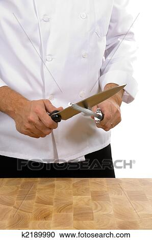 Chef Sharpening Knife Clip Art