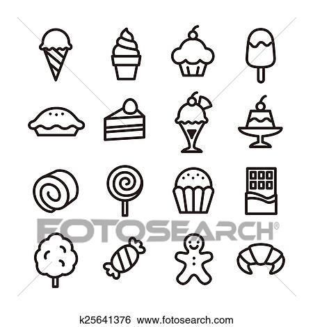 冰淇淋简笔画-简笔 甜食
