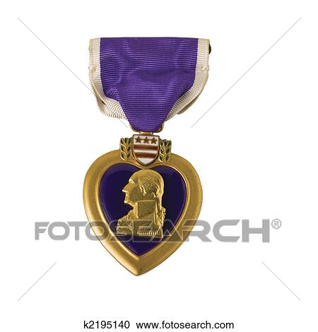 Banques de photographies coeur pourpre k2195140 for Purple heart citation template