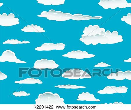 Clipart of seamless cloud background k2201422 - Search Clip Art ...
