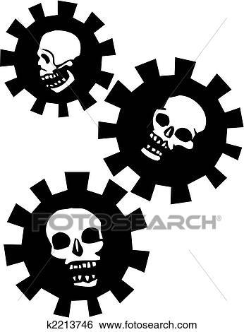 Clip Art of Halo Gear Skulls k2213746 - Search Clipart ...