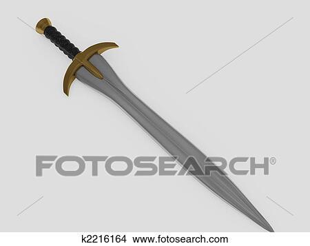 手绘图 - 剑