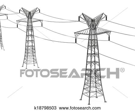 Clipart Electricity Pylon Drawing Electricity Pylons