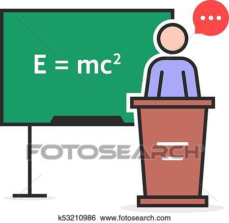 clip art of color linear physics teacher k53210986 search clipart rh fotosearch com physics clipart logo physics clipart free