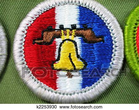 merit badge citizenship fotosearch clipart liberty wall macro bell shot close csp225