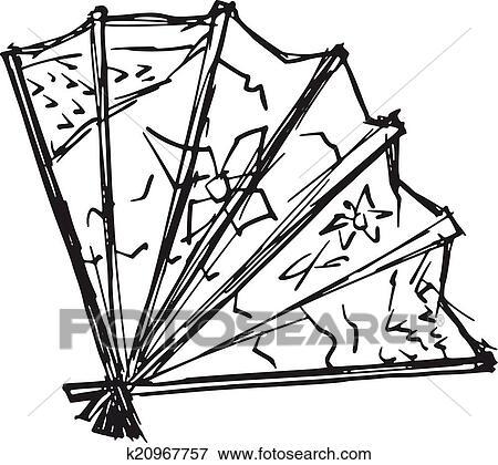 clip art japanische f cher k20967757 suche clipart. Black Bedroom Furniture Sets. Home Design Ideas