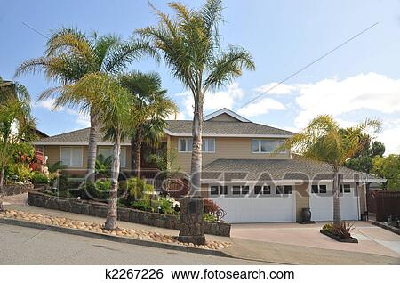 Sensational Two Story House Stock Photo Images 2 120 Two Story House Royalty Largest Home Design Picture Inspirations Pitcheantrous