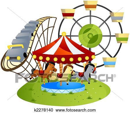 stock illustrations of amusement park k2278140 search clipart rh fotosearch com amusement park rides clipart black and white amusement park clip art free
