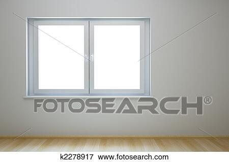 Immagine vuoto nuovo stanza con finestra k2278917 - Maniglia finestra gira a vuoto ...