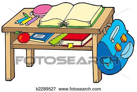 Tisch schule clipart  Stock Illustration - schule, tisch k2289527 - Suche Clipart ...