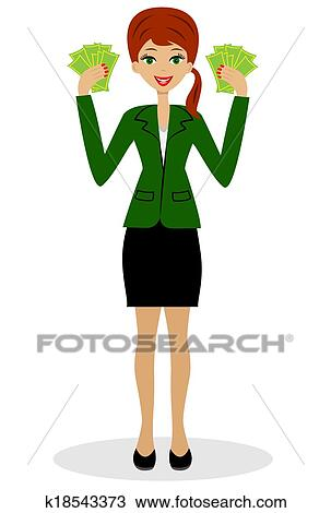 clipart of successful business woman k18543373 search clip art rh fotosearch com black business woman clipart black business woman clipart