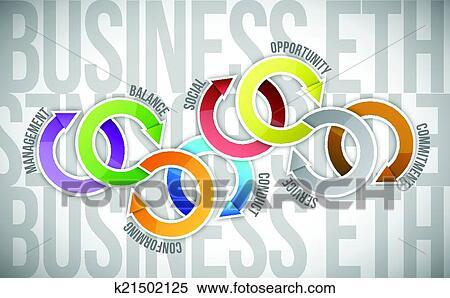 剪贴画 - 商业伦理学, 周期, 图形, 描述, 设计