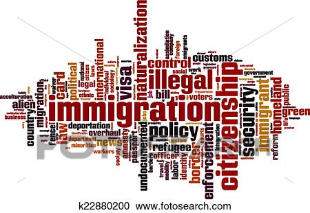 Clipart of Immigration word cloud k22880200 - Search Clip ...