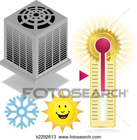 Clipart of air conditioner group k2292613 search clip for Air conditionn mural