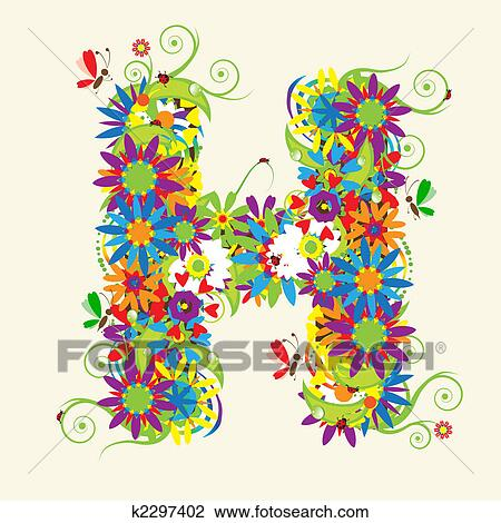 Clipart of letter h floral design see also letters in my gallery clipart letter h floral design see also letters in my gallery fotosearch thecheapjerseys