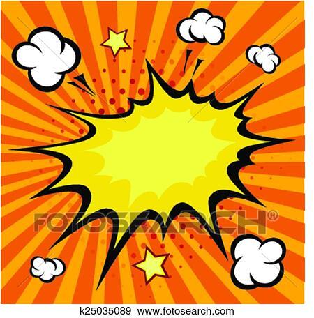 clip art of comic book explosion vector illustration k25035089 rh fotosearch com comic book clip art free comic book clipart png