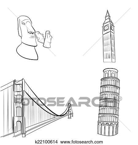 World Famous Clipart Clipart Famous Places