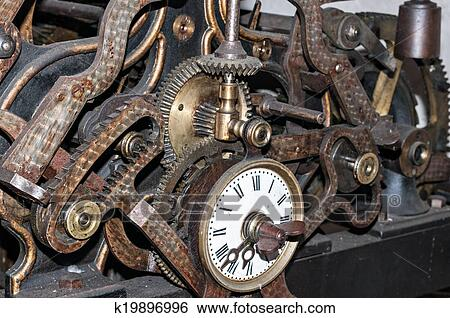 Turmuhr clipart  Stock Bilder - turmuhr, maschinerie k19896996 - Suche ...