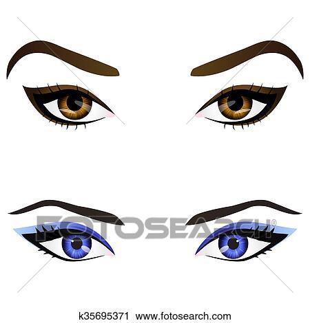 cartoon lady eyes