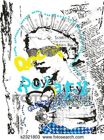 手绘图 方式, 流行艺术, 海报 -手绘图 方式, 流行艺术, k2321803