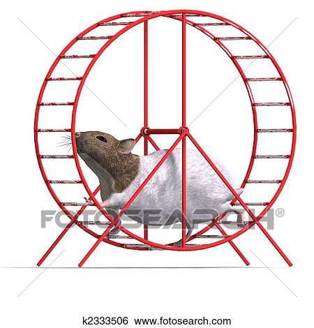 Stock Illustration of cute hamster in a hamster wheel k2333506 ...