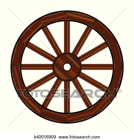 clip art of covered wagon wheel k40016909 search clipart rh fotosearch com wagon wheel clip art black and white wagon wheel clipart free