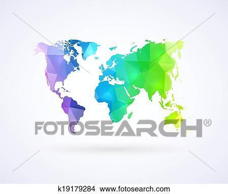 三角形, 世界地图