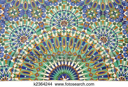 stock foto orientalische mosaik deko in casablanca. Black Bedroom Furniture Sets. Home Design Ideas