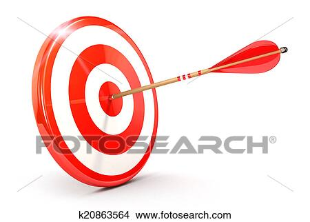 Drawings of 3d arrow on target k20863564 - Search Clip Art ...