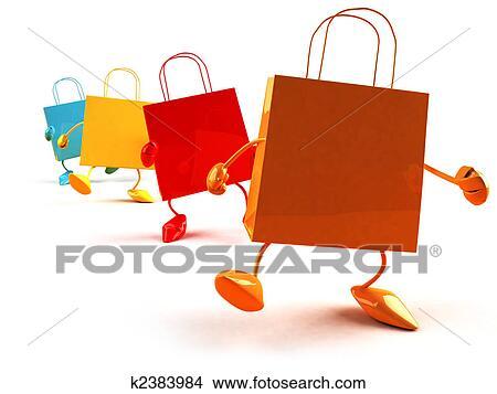 手绘图 - 购物袋