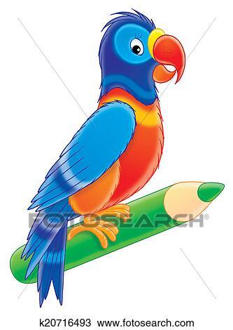 手绘图 - 鹦鹉