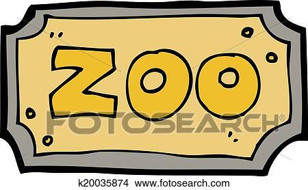 剪贴画 - 卡通漫画, 动物园