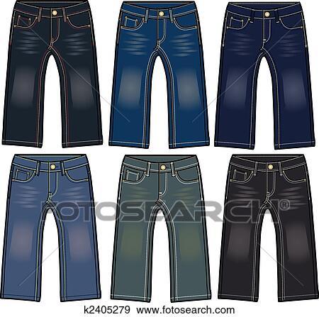 Clip Art of boy denim jeans k2405279 - Search Clipart ... - photo#6