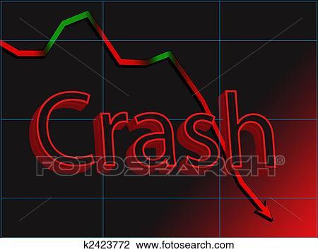 Clip Art of Stock market crash k2423772 - Search Clipart ...
